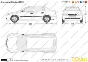 Opel Astra G Dimensions The Blueprints Vector Drawing Opel Astra G Sedan