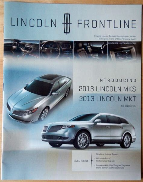 2013 lincoln mkx brochure sell 1994 lincoln continental all models factory workshop