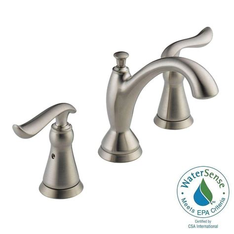 delta linden 8 in widespread 2 handle bathroom faucet