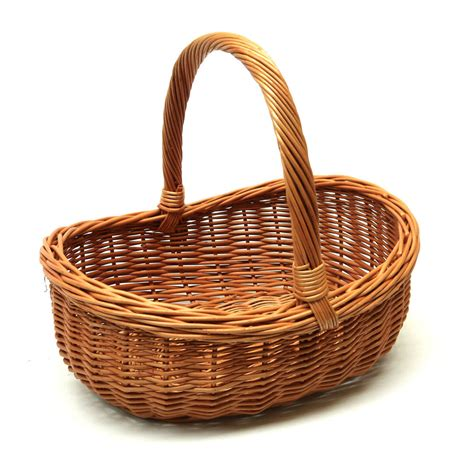 Home Decor Daily Deals by Wicker Basket With Handle Great For Gift Storage Carry