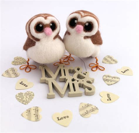 Mini Owl 4 by Mini Owl Wedding Cake Topper By Feltmeupdesigns