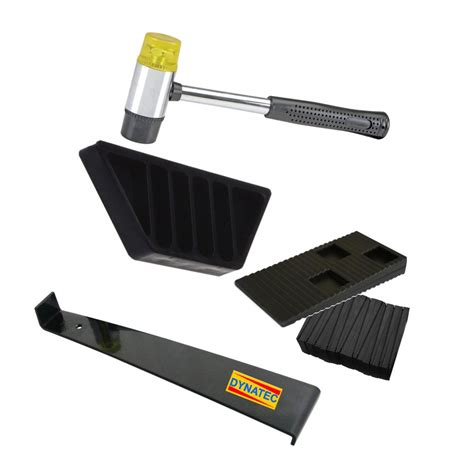 Flooring Installation Tools Dynatex Wood Flooring Laminate Installation Floor Fitting Kit Set Tool Soft Mallet Wedges Bar