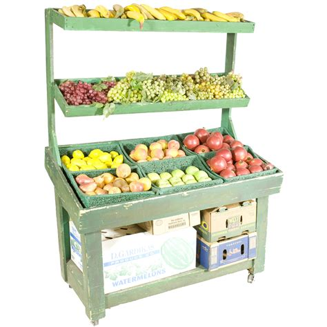 Produce Shelf by Produce Stand 4 Tier Green Air Designs