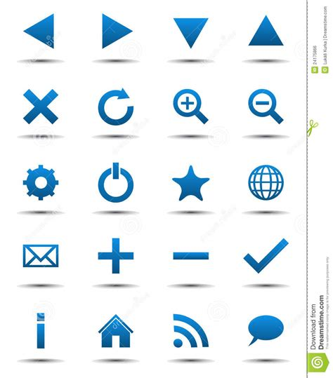 Free Online House Plans blue navigation web icons royalty free stock image image