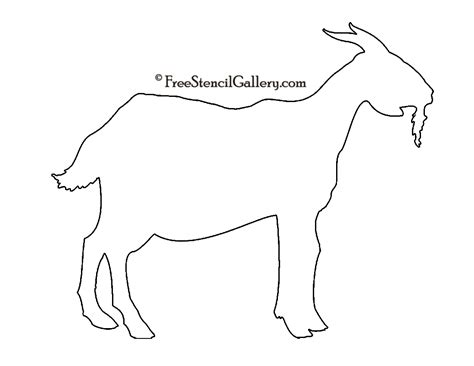 goat template printable goat silhouette stencil stencils