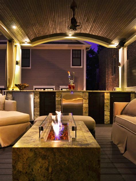 Concrete Ceiling Lighting by Outdoor Fire Pits And Fire Pit Safety Hgtv