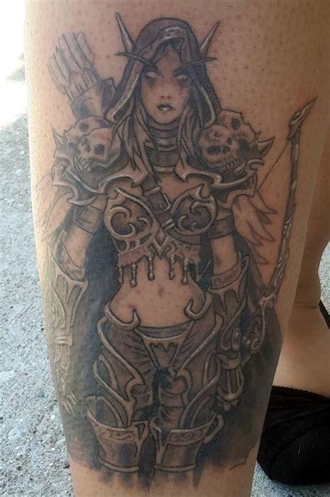 world of warcraft tattoo designs world of warcraft sylvanas ideas