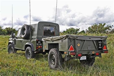 british land rover british army 110 wolf land rover and trailer land rover