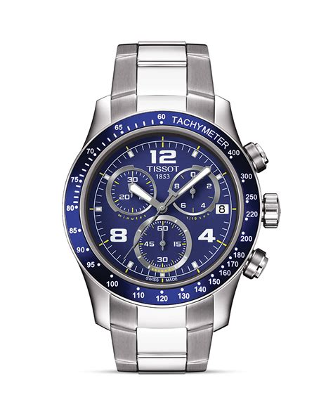 tissot v8 s blue chronograph sport 42 5mm