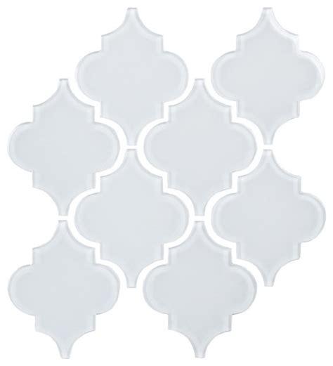 snow white arabesque glass mosaic tiles kitchen bright white arabesque glass tile mosaic contemporary