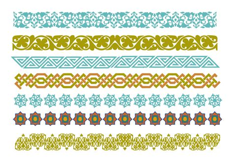 vector pattern frames cdr islamic border free vector art 3771 free downloads