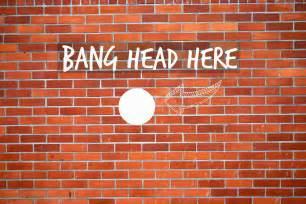 Brick Wall Meme - bang head against brick wall channel instincts