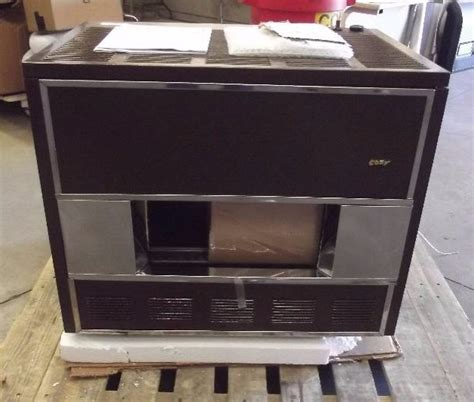cozy vented room heater cozy gas fired vented room heater als april sale equip bid
