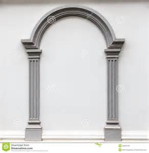 arch molding on the wall stock photo image 25849150