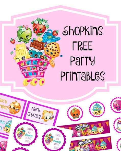 printable shopkins birthday decorations shopkins free birthday party printables delicate autos post