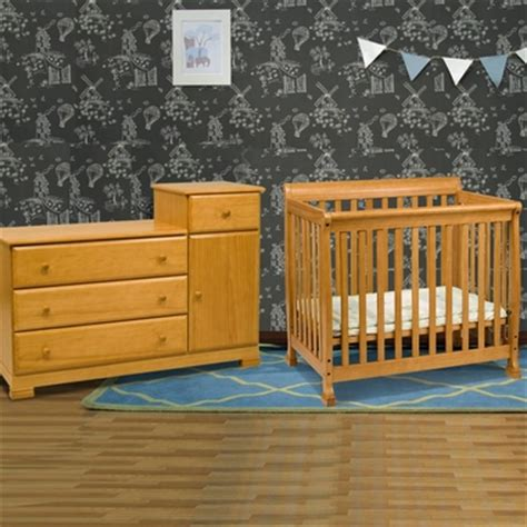 Mini Crib And Changer Combo Da Vinci 2 Nursery Set Kalani Mini Crib And Combo Changer Dresser In Honey Oak Free Shipping
