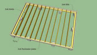 Backyard Shed Blueprints storage shed floor joists remise en l pinterest