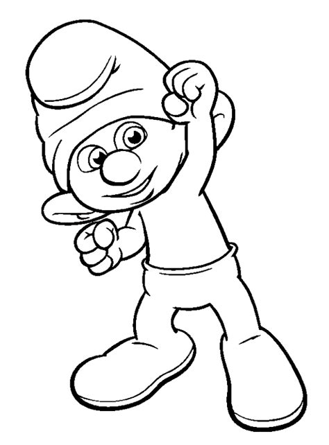 printable smurf coloring pages coloring me