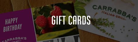 Carrabbas Gift Card - carrabba s amex offer save 40 or more on gift cards
