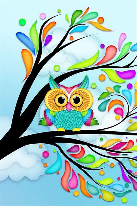 colorful owl wallpaper owl wallpaper wallpapers phone stuff pinterest