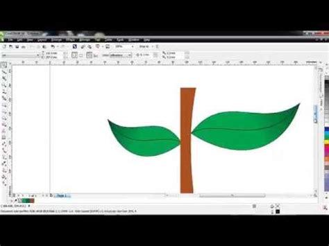 membuat kolase di corel draw cara membuat daun di corel draw youtube