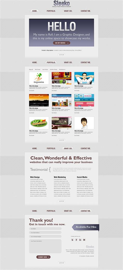 10 advantages of single page website