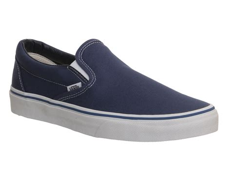 Slip On Navy vans classic slip on shoes navy canvas unisex sports