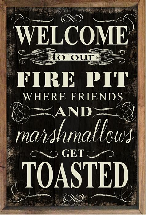 pit signs decorate outdoor spaces with a welcome to our pit sign glitter n spice