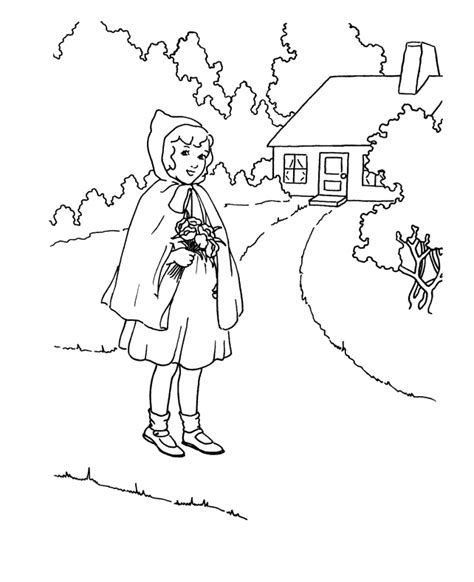 little red riding hood coloring page az coloring pages