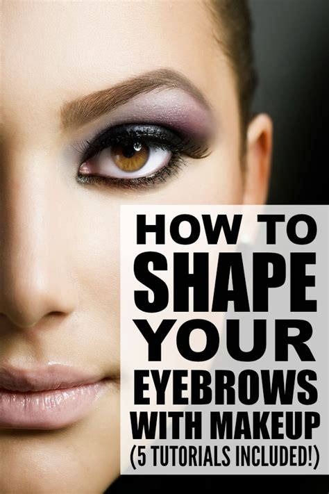 7 Tips To Shape Your Brows Like A Pro by 5 Tutorials To Teach You How To Shape Your Eyebrows With