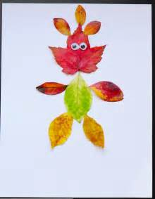 Glitter Christmas Crafts - leaf people fun family crafts