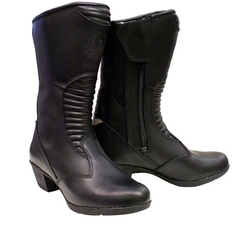 ladies black leather biker boots merlin tilly ladies full leather waterproof womens