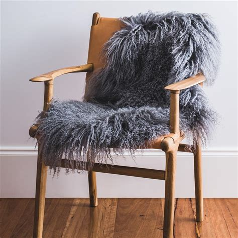 Grey Animal Skin Rug Grey Mongolian Sheepskin Rug Hides Of Excellence
