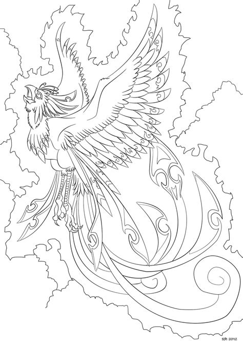 coloring pages phoenix bird phoenix coloring in page 8 by darkly shaded shadow on
