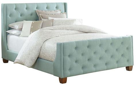 blue upholstered bed carmen blue king upholstered bed from standard furniture