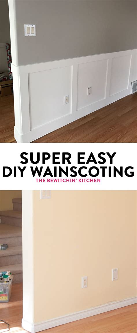 Easy Wainscoting Diy by Easy Diy Wainscoting The Bewitchin Kitchen
