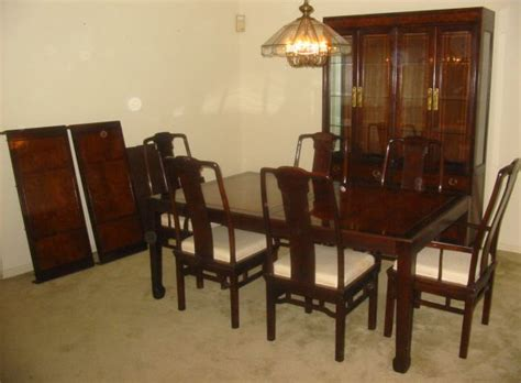 drexel heritage dining room set  china cabinet west houston furniture houston