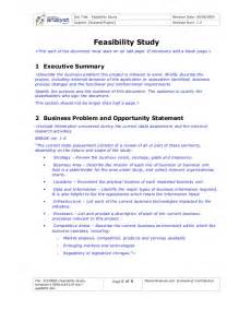 Feasibility Study Template Doc by 61594881 Feasibility Study Template