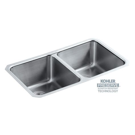 kohler undertone preserve undermount stainless steel 32 in