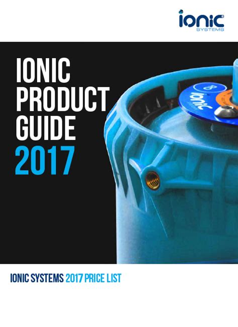 ionic quick tutorial ionic product guide early 2017 the wca