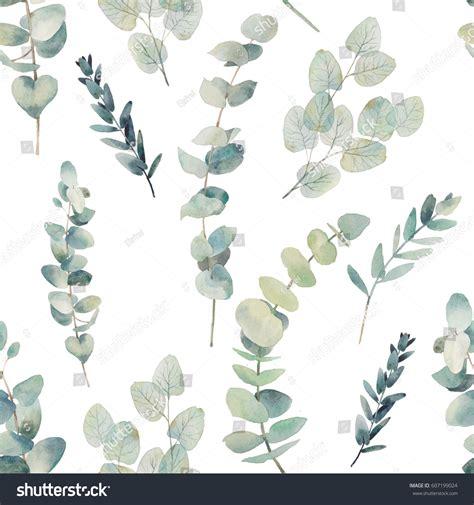 Home Decor Fabric Australia watercolor eucalyptus branches seamless pattern hand stock