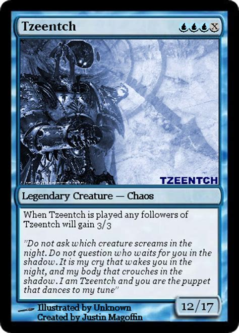 how to make a magic the gathering card tzeentch magic the gathering card by headhunterxzi on