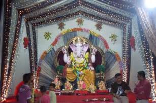 Home Decoration For Ganesh Festival Ganesh Chaturthi 2010 Photos Wallpaper Pictuire Images