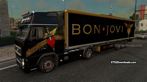 Trucker Bon Jovi Tbj001 3 awesome truck simulator 2 bon jovi skin pack for volvo fh 2009