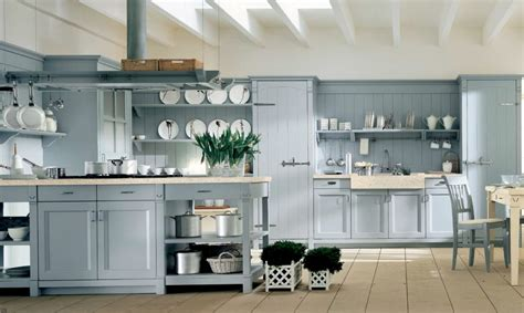 Blue Kitchen Cabinets Light Blue Country Kitchen Interior Design Ideas