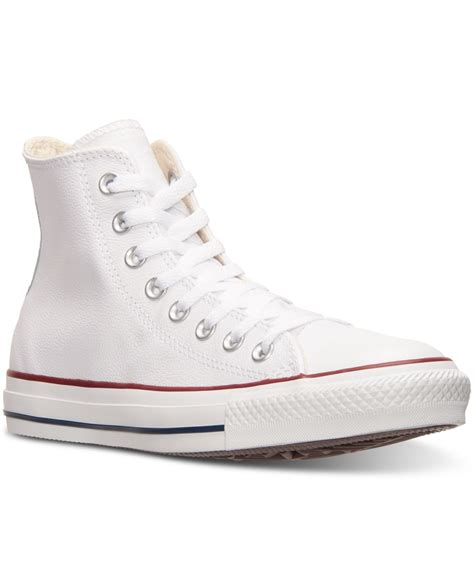 chuck leather sneakers lyst converse s chuck high leather casual