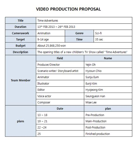 Video Production Proposal Pictures