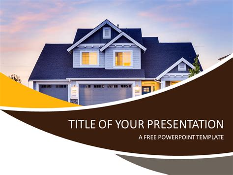 house powerpoint template real estate powerpoint template presentationgo com
