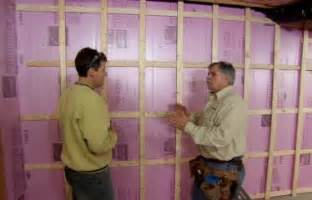 how to insulate a basement wall how to install a basement laundry this house