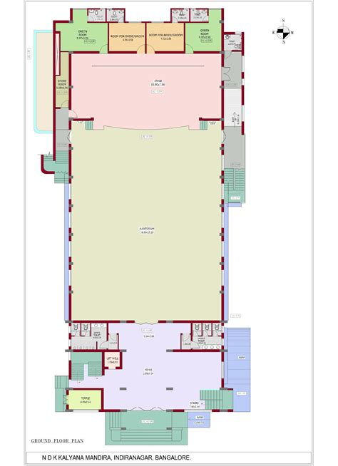 Banquet Hall Floor Plans by Ndk Kalyana Mandira